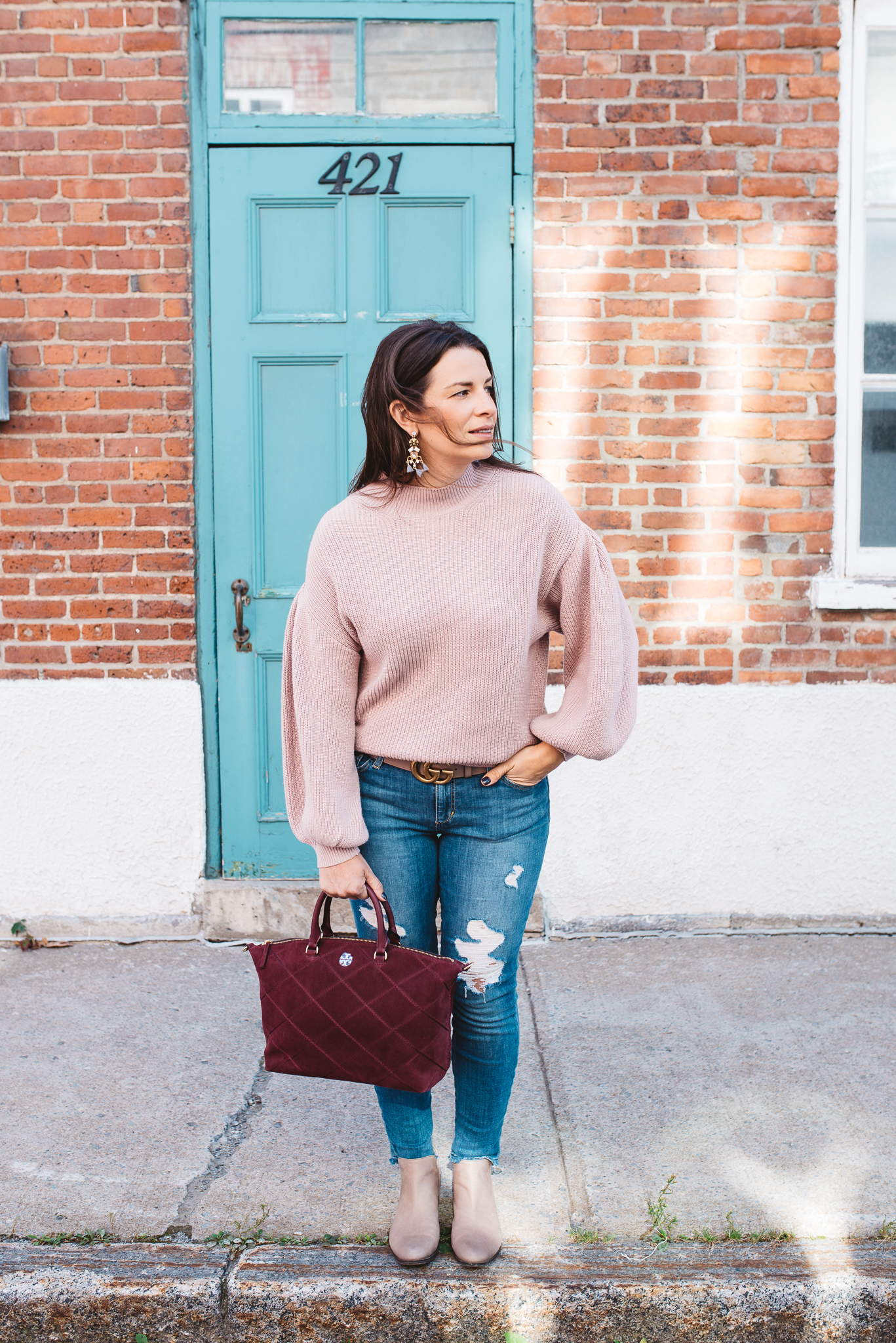 e298889b1e6 This new blush knit sweater is one of my favourite colours for Fall this  year